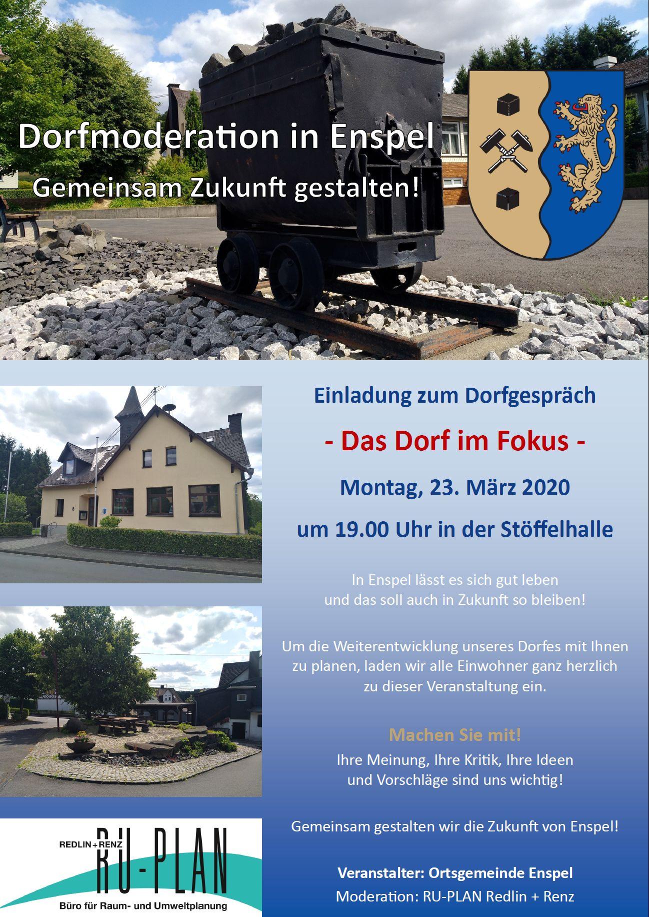 Flyer Dorfmoderation 2020